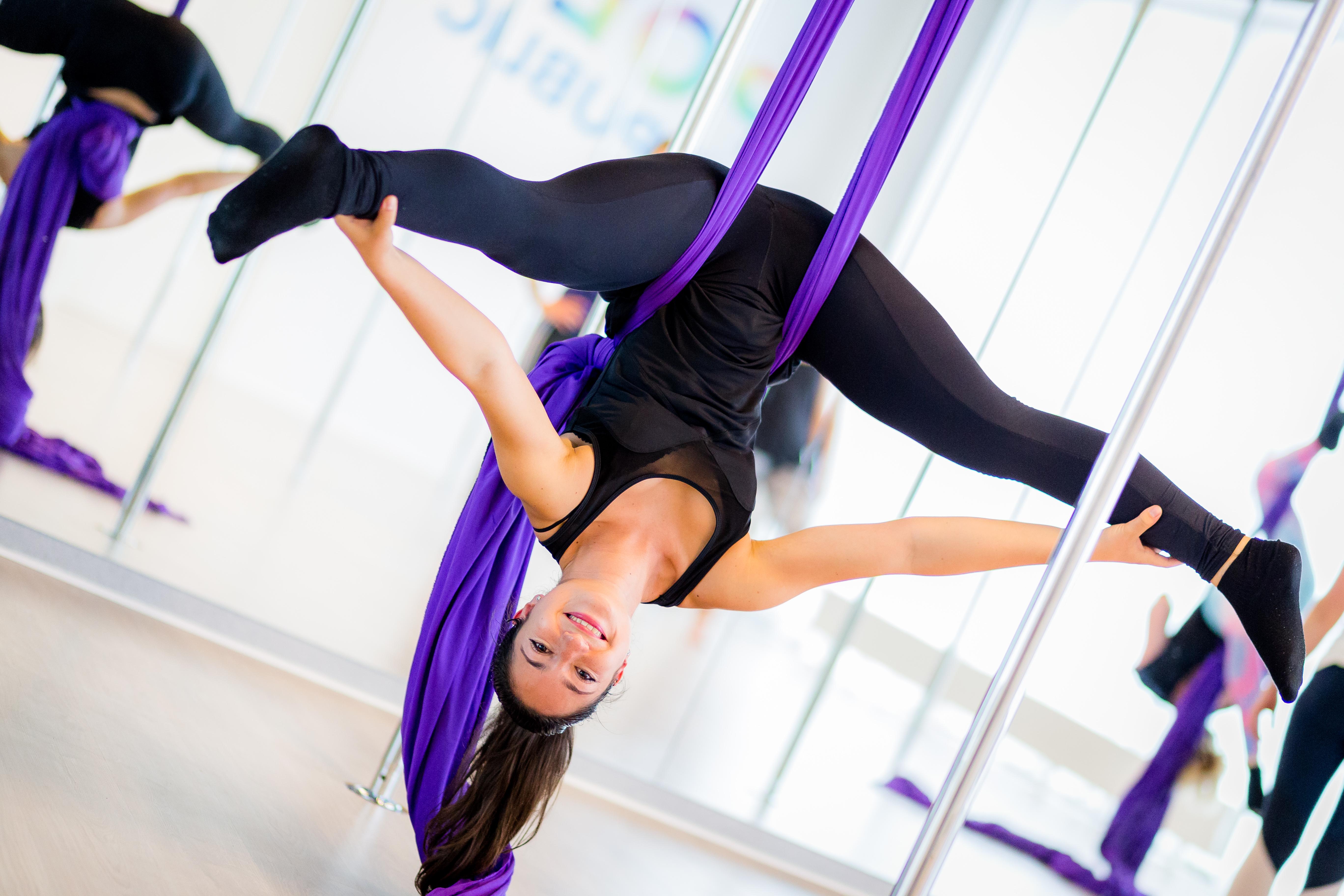 Aerial silk classes